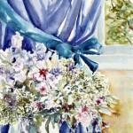 Bouquet voor gordijn