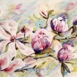 Uitbundige magnolia's